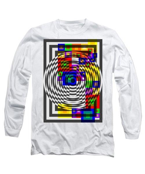 Circular Colour Fusion  Long Sleeve T-Shirt