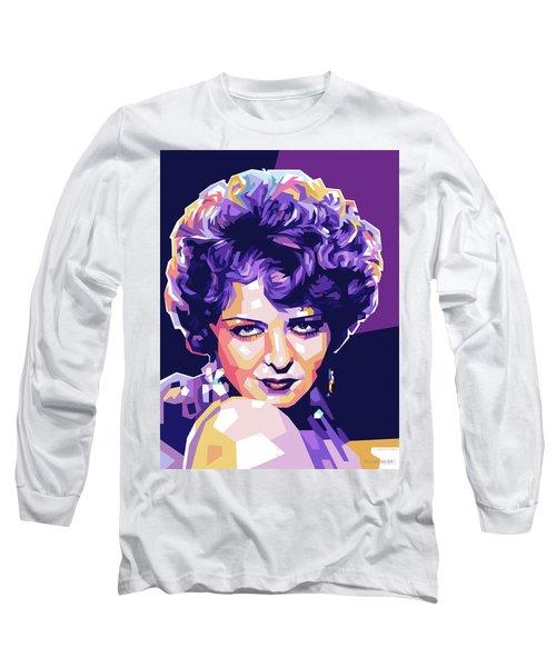 Clara Bow Pop Art Long Sleeve T-Shirt