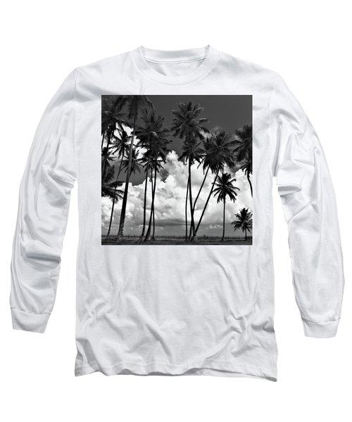 Coconut Trees At Mayaro Long Sleeve T-Shirt