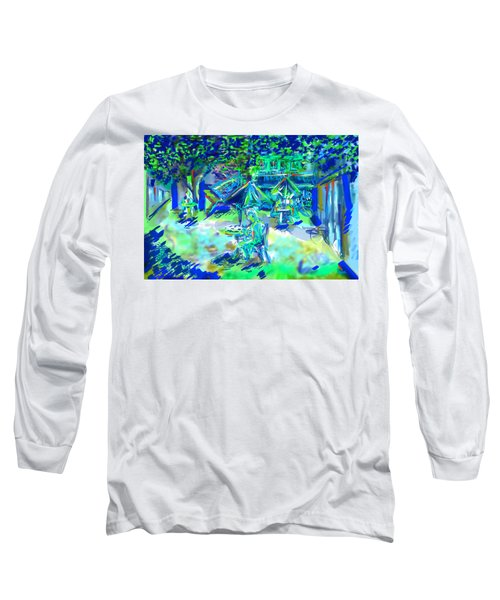 Colorful Courtyard Long Sleeve T-Shirt