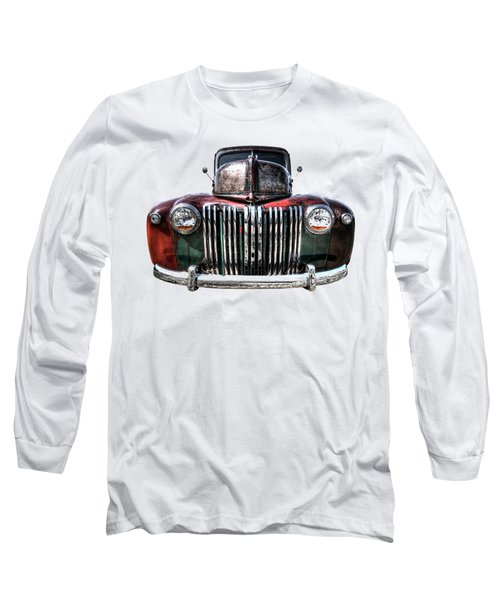 Colorful Rusty Ford Head On Long Sleeve T-Shirt