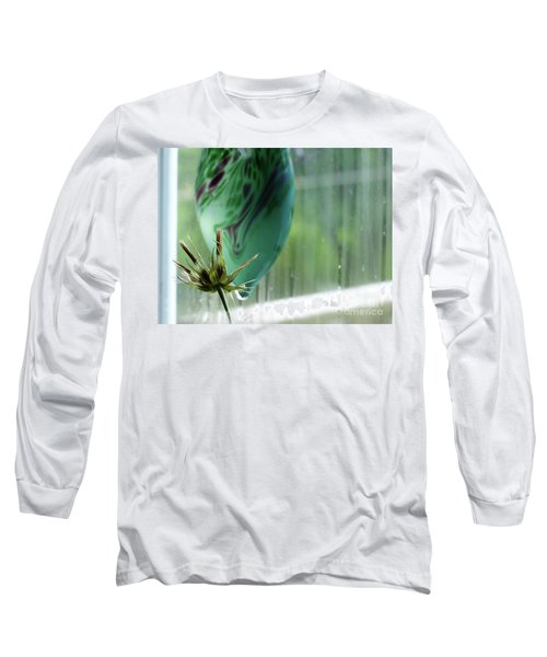 Composition In Green Long Sleeve T-Shirt