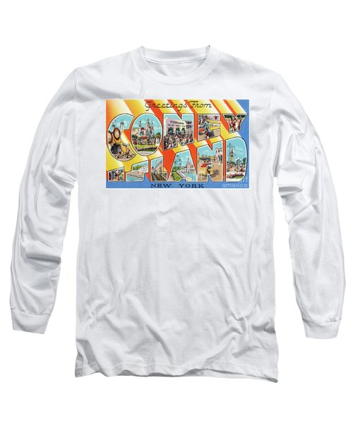 Coney Island Greetings - Version 1 Long Sleeve T-Shirt