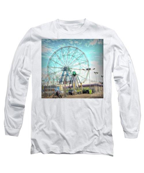 Coney Island Wonder Wheel Ny Long Sleeve T-Shirt
