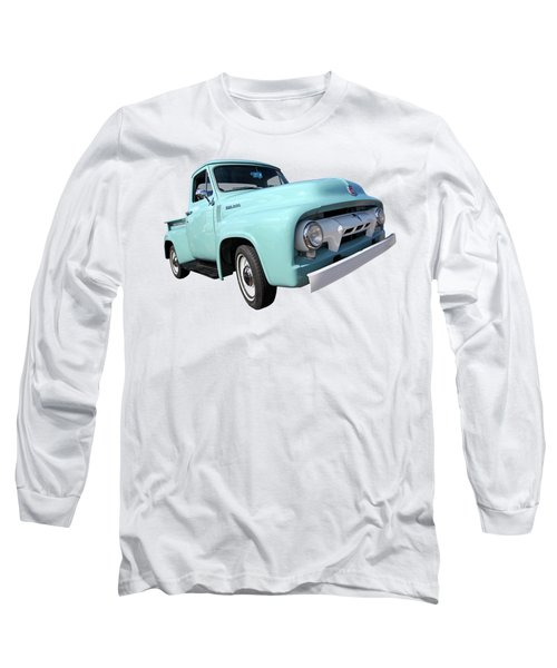 Cool As Ice - 1954 Ford F-100 Glacier Blue Long Sleeve T-Shirt