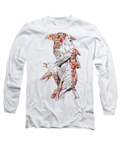 Cool Bird Illustration Long Sleeve T-Shirt
