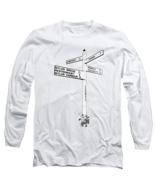 Cornish Signpost Comfort Long Sleeve T-Shirt