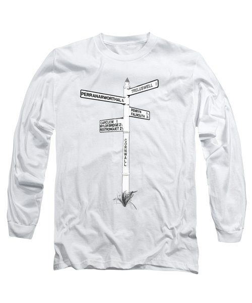 Cornish Signpost Treluswell Long Sleeve T-Shirt