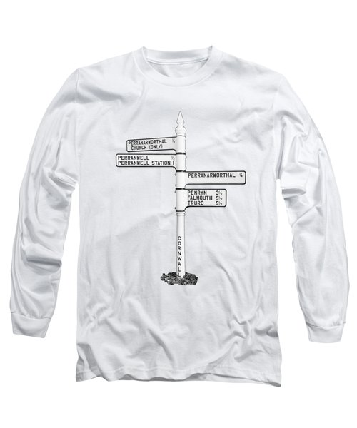 Cornish Signpost Perranwell  Long Sleeve T-Shirt