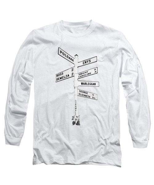 Cornish Signpost Poldark Long Sleeve T-Shirt