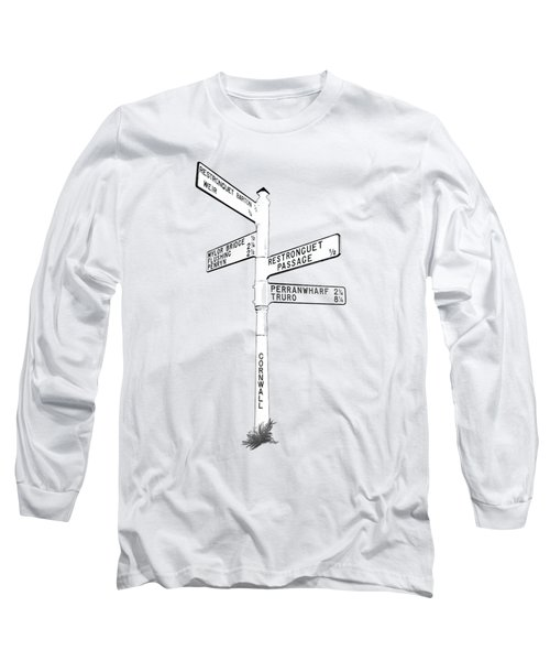 Cornish Signpost Restronguet Long Sleeve T-Shirt