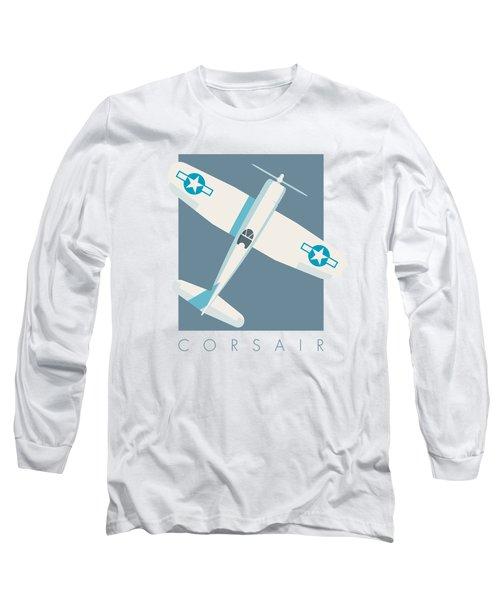 Corsair Fighter Aircraft - Slate Long Sleeve T-Shirt