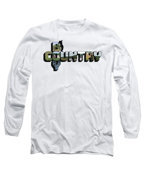 Country Boy Big Letter Long Sleeve T-Shirt