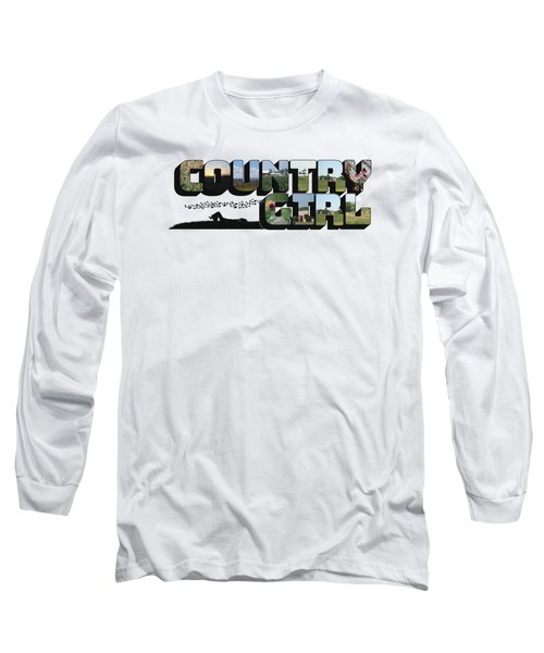 Country Girl Big Letter Long Sleeve T-Shirt