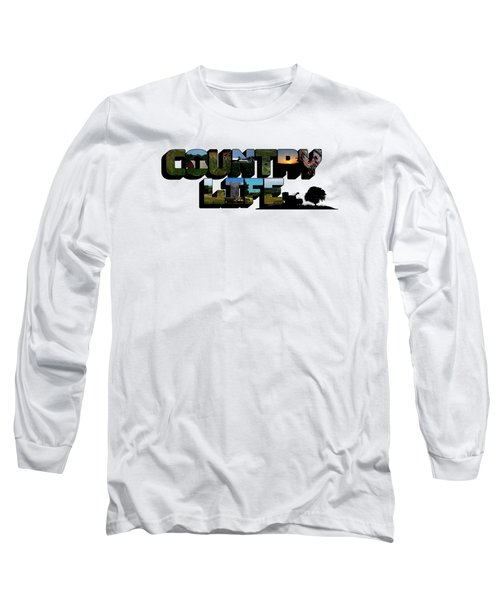 Country Life Big Letter Long Sleeve T-Shirt