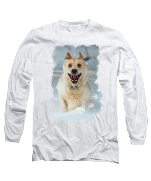 Crazy Dog Transparancy Long Sleeve T-Shirt