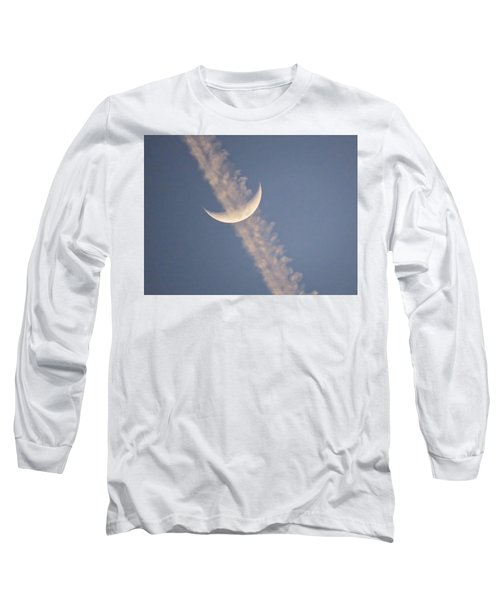 Gemini Crescent In Contrail Long Sleeve T-Shirt