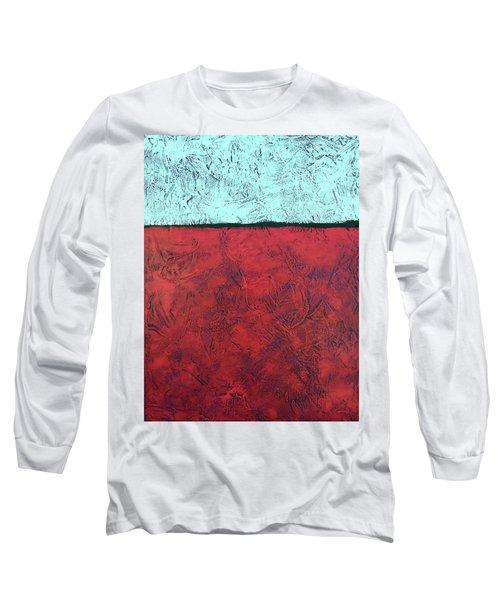 Crimson Earth Meets Pearl Sky Long Sleeve T-Shirt
