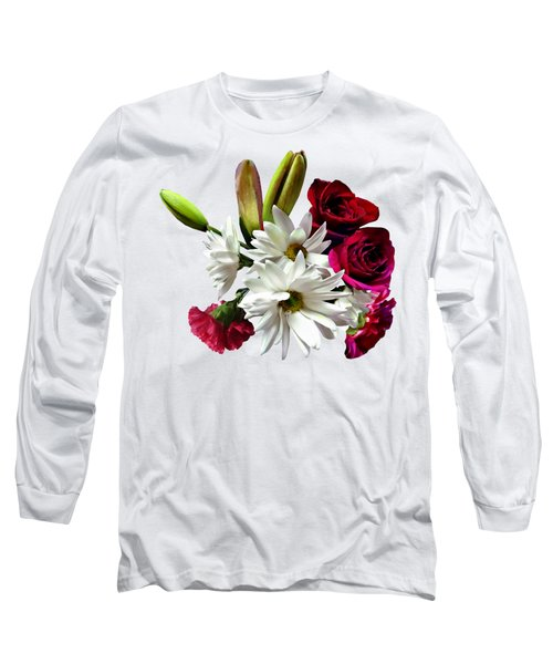 Daisies, Roses And Carnations Long Sleeve T-Shirt
