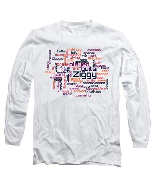 David Bowie - Ziggy Stardust Lyrical Cloud Long Sleeve T-Shirt