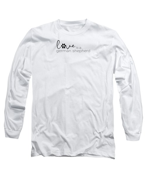 Dog Paw Print Design German Shepherd Long Sleeve T-Shirt