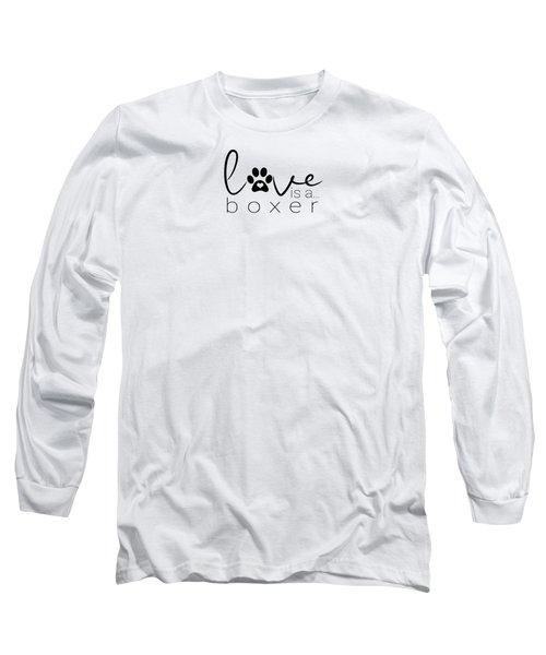 Dog Paw Print Design Love Boxer Dogs Long Sleeve T-Shirt