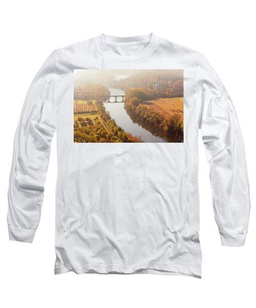 Dordogne River In The Mist Long Sleeve T-Shirt