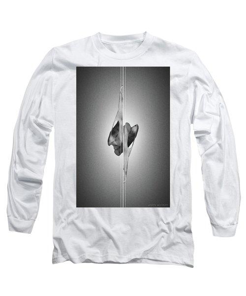 Dormiveglia Black - Surreal Abstract Bird Skull And Lines Long Sleeve T-Shirt