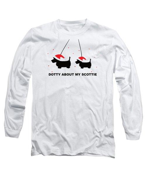 Dotty About My Scottie - Xmas Long Sleeve T-Shirt