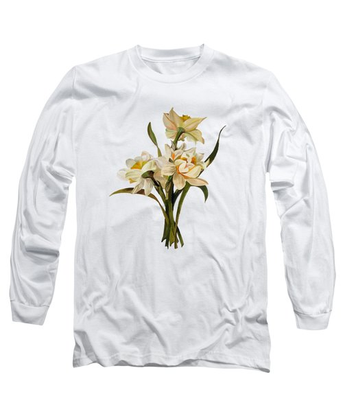 Double Narcissi Spring Flower Bouquet  Long Sleeve T-Shirt
