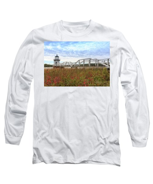 Doubling Point Lighthouse In Maine Long Sleeve T-Shirt