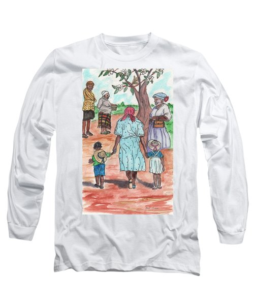 Down The Red Road And Past The Magnolia Tree Long Sleeve T-Shirt