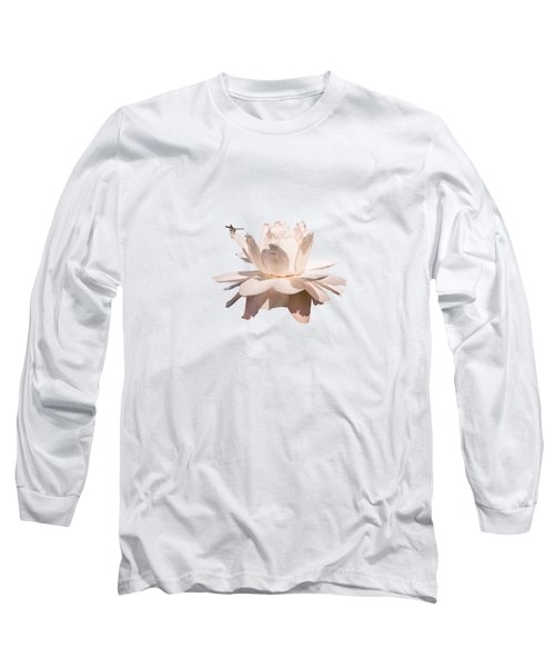 Dragonfly On Giant Victoria Cruziana Waterlily  Long Sleeve T-Shirt
