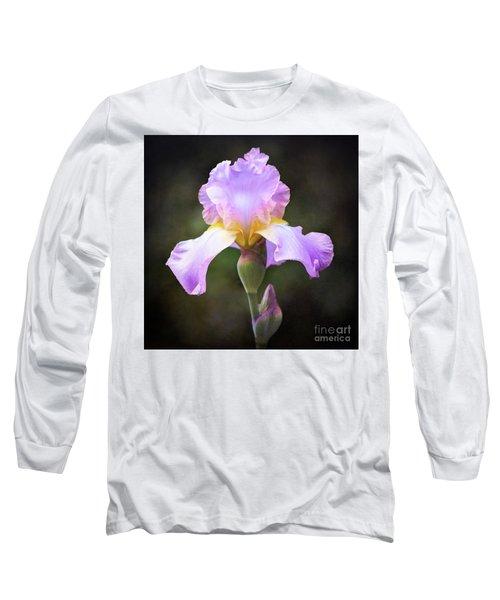 Dramatic Purple Iris Long Sleeve T-Shirt