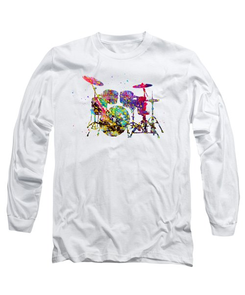 Drums-colorful Long Sleeve T-Shirt