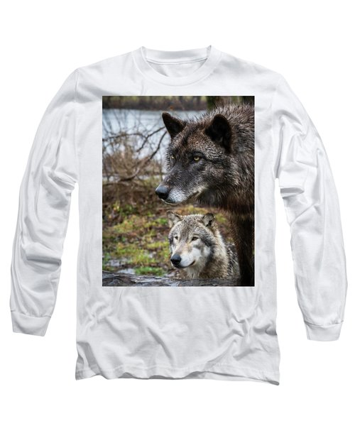 Dual Wolves Long Sleeve T-Shirt
