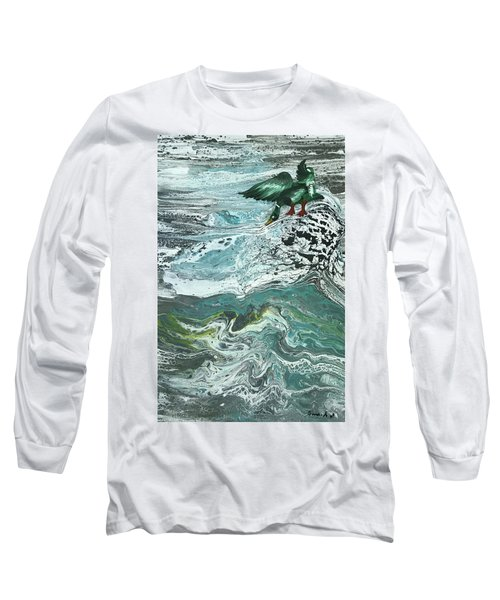 Duck At The River Long Sleeve T-Shirt