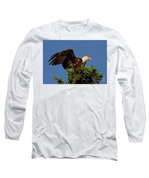 Eagle In Treetop Long Sleeve T-Shirt