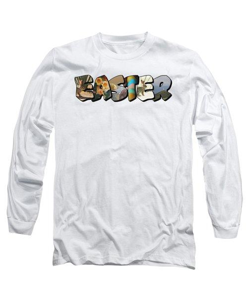 Easter Big Letter Long Sleeve T-Shirt