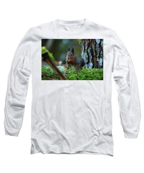 Eating Squirrel Long Sleeve T-Shirt