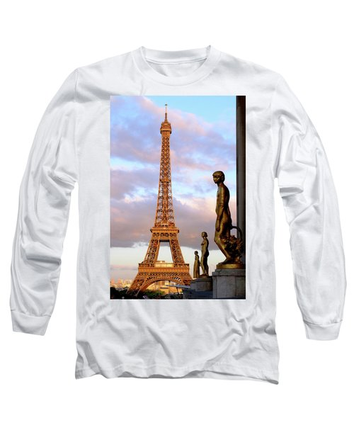 Eiffel Tower At Sunset Long Sleeve T-Shirt