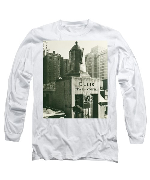 Ellis Tea And Coffee Store, 1945 Long Sleeve T-Shirt
