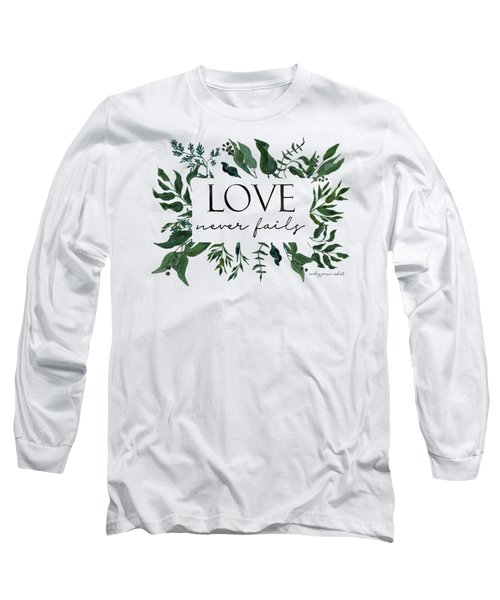 Emerald Wild Forest Foliage 2 Watercolor Long Sleeve T-Shirt