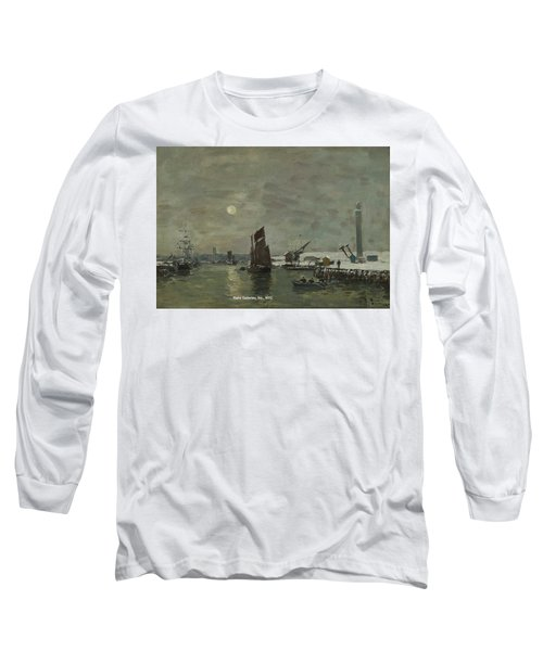 Eugene Louis Boudin  1824 - 1898 Dunkirk, Effect Of Snow On The Port Long Sleeve T-Shirt