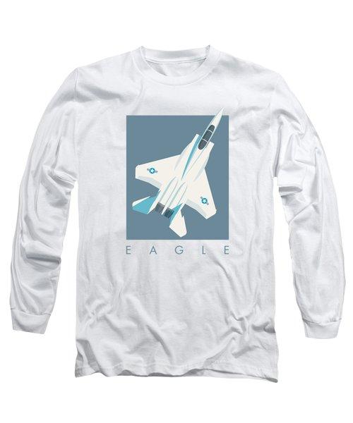 F15 Eagle Fighter Jet Aircraft - Slate Long Sleeve T-Shirt