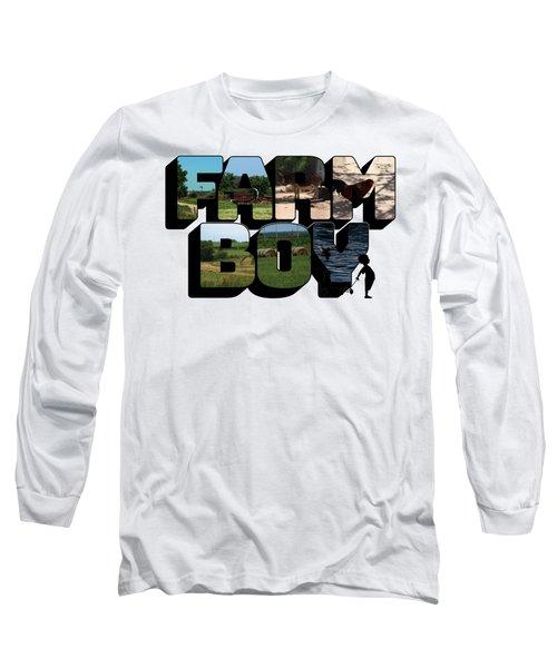 Farm Boy Big Letter 2  Long Sleeve T-Shirt