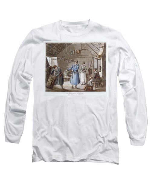 Farmers In A Cottage In Karelia, Finland Long Sleeve T-Shirt