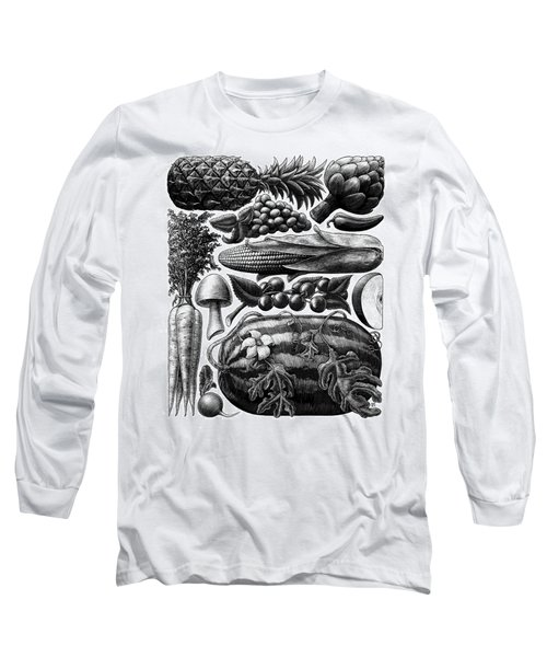 Farmer's Market - Bw Long Sleeve T-Shirt
