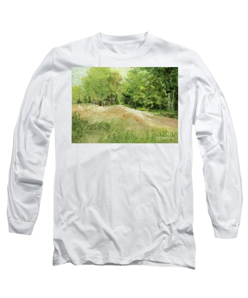 Woodland Trees And Dirt Road Long Sleeve T-Shirt