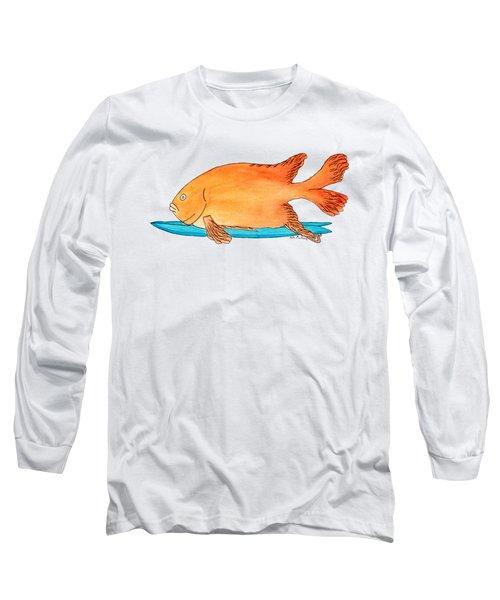Fish On A Fish Long Sleeve T-Shirt